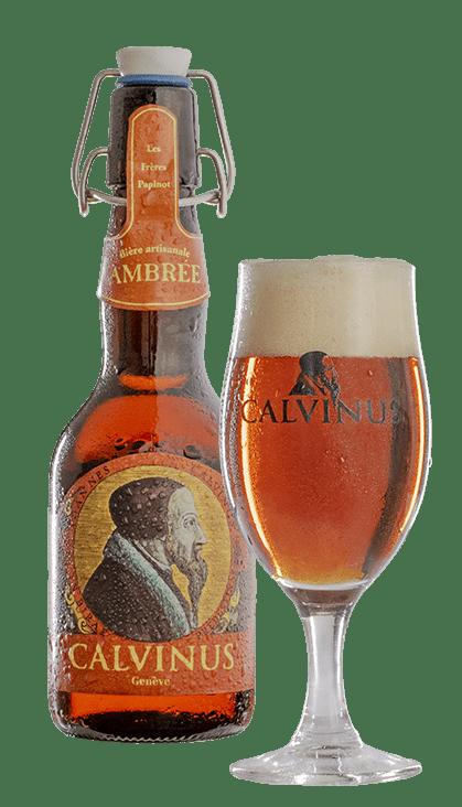 Bièreavecverre-Ambrée-calvinus-bière-beer-local-genève-geneva-bestbeer-suisse