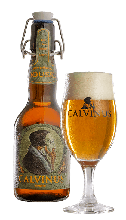 Bièreavecverre-Rousse-calvinus-bière-beer-local-genève-geneva-bestbeer-suisse