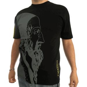 T-shirt homme, noir/gris calvinus
