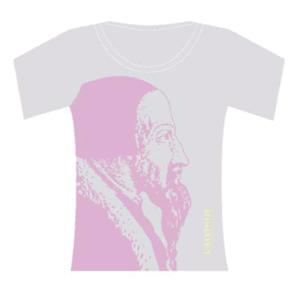 T-shirt femme, gris/rose Calvinus