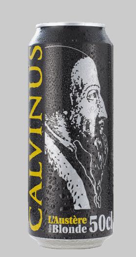Cannette 50cl-Blonde-Lager-Calvinus-bière-Genève-Suisse